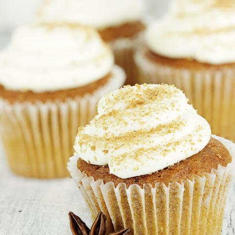 Pumpkin Cupcakes Cinnamon Cream Cheese Frosting