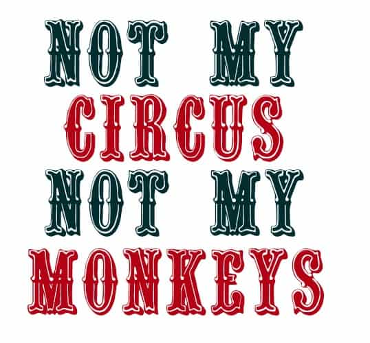 Not my circus, not my monkey Polish saying - Home in the Finger Lakes