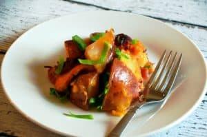 Slow Cooker Cheesy Bacon Ranch Potatoes