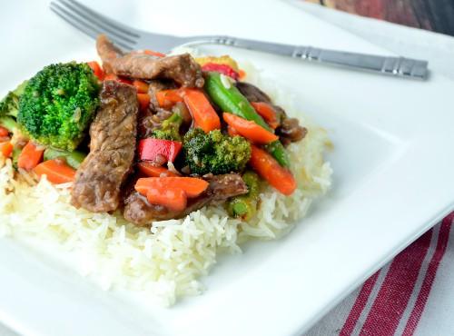 Beef Stir Fry on Rice