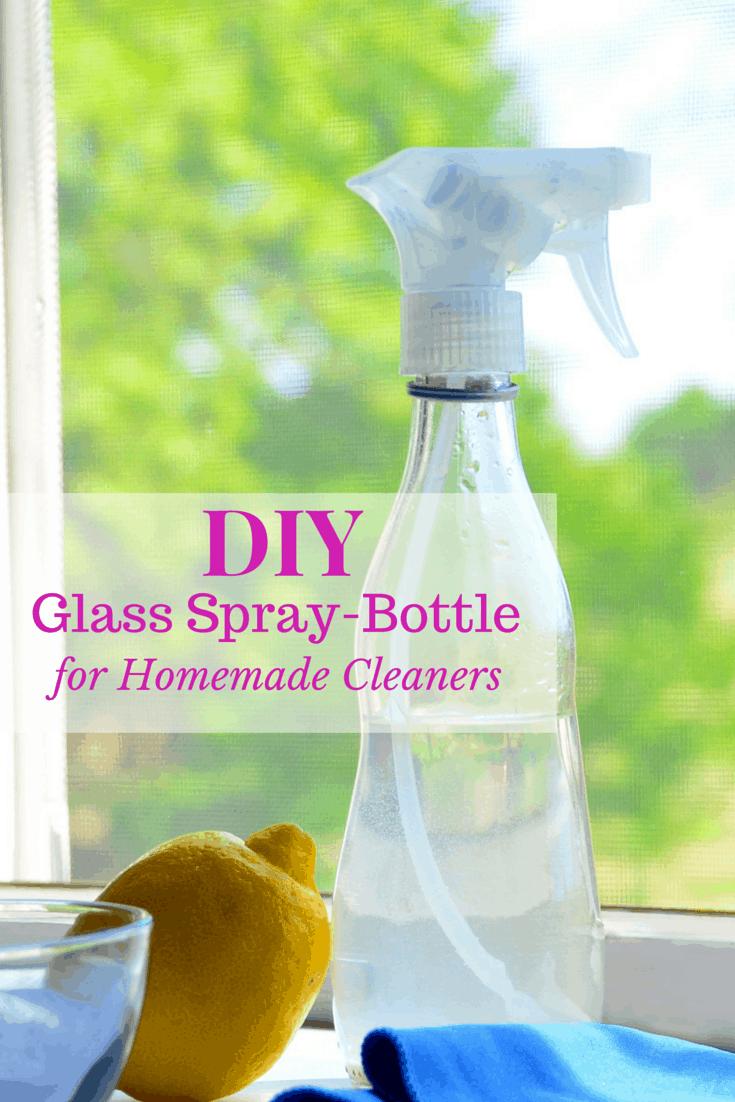 DIY Glass Spray-Bottle for Homemade Cleaners