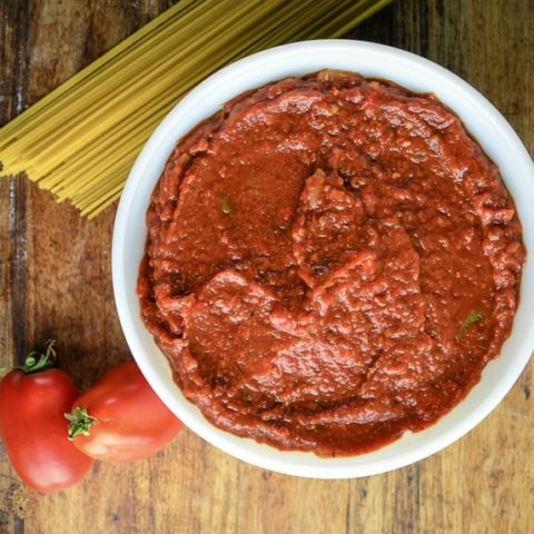 Fresh Oven Roasted Tomato Sauce
