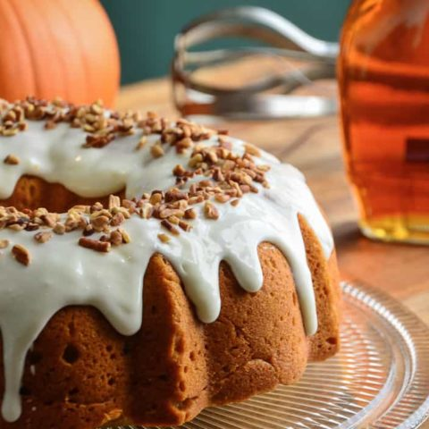 Vermont Spice Cake with Maple Cream Cheese Glaze