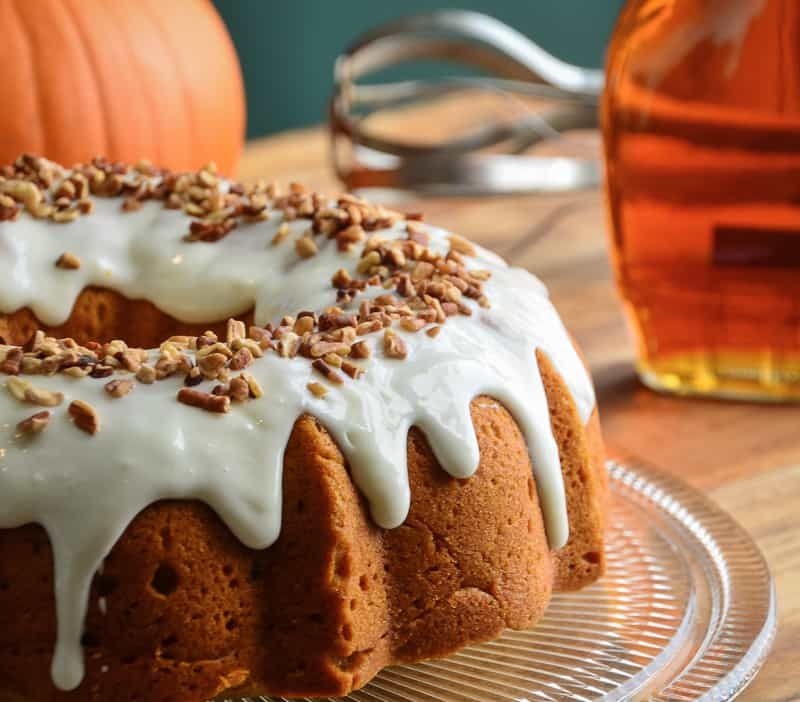 Vermont Spice Cake with Maple Cream Cheese Glaze