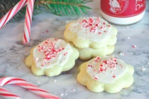 Peppermint Butter Cookies