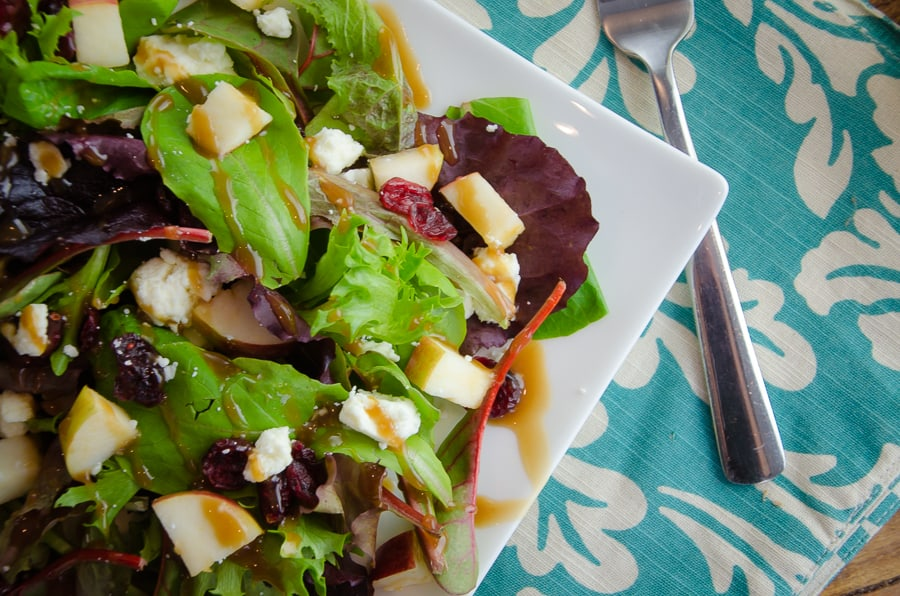Spring Mix Salad with Pomegranate Honey Dijon Balsamic Vinaigrette-6