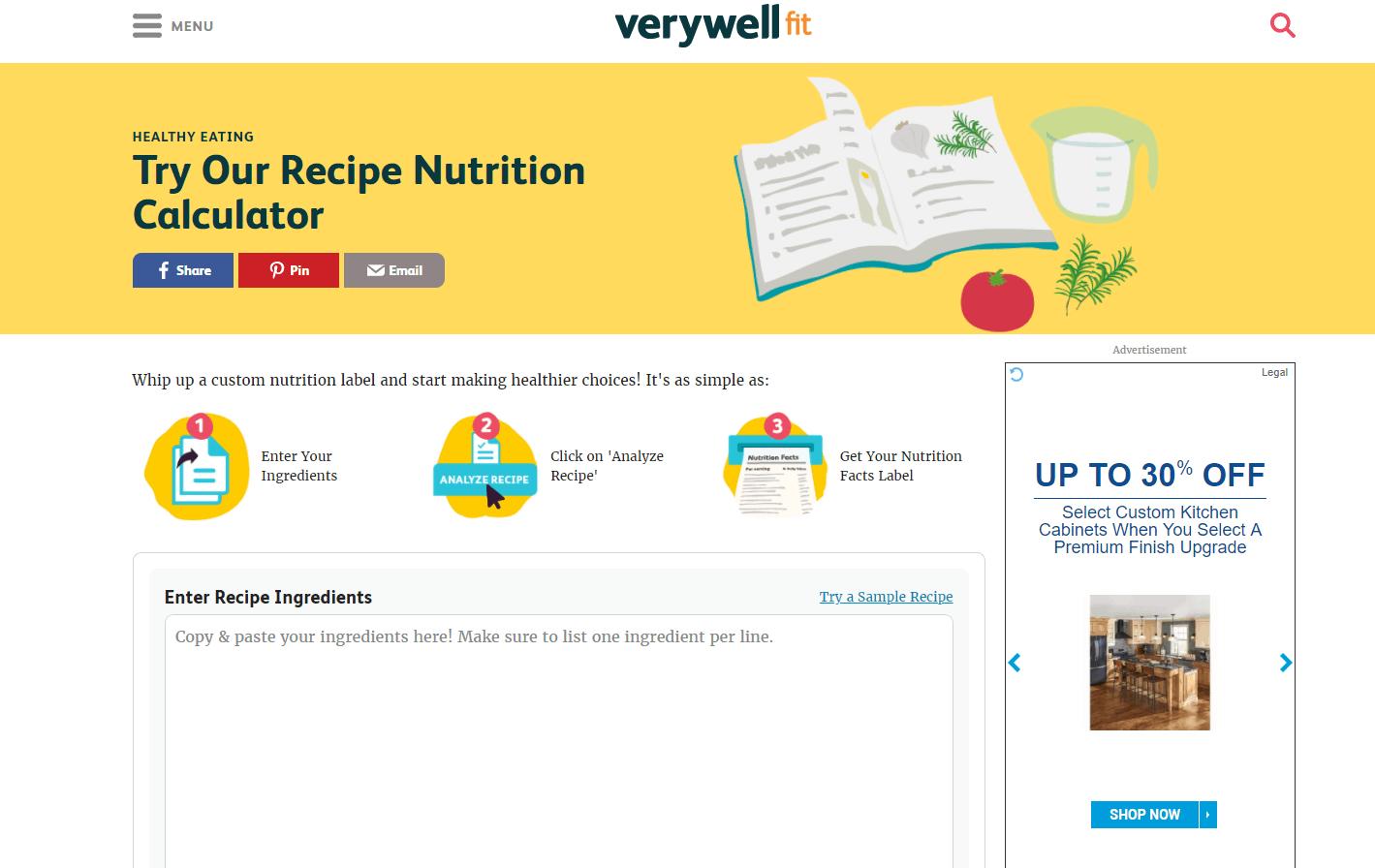 The Easiest Recipe Calorie Calculator