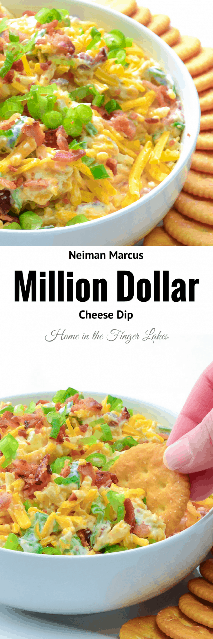 Neiman Marcus Cheese Dip is always one of the most popular items on the appetizer table at parties. Made with only 5 ingredients, this dip is a breeze to mix up but tastes like a million dollars.