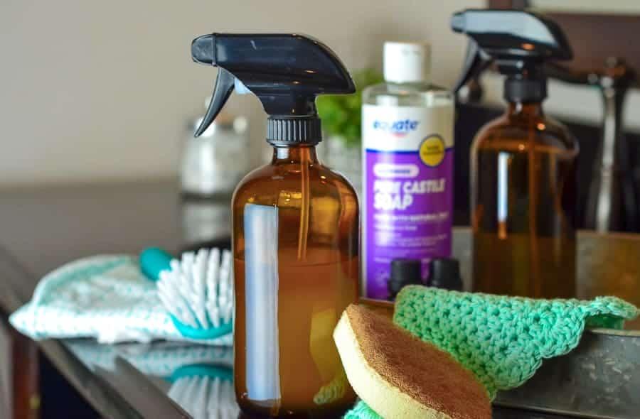 DIY Bacteria Busting Bathroom Cleaner Spray