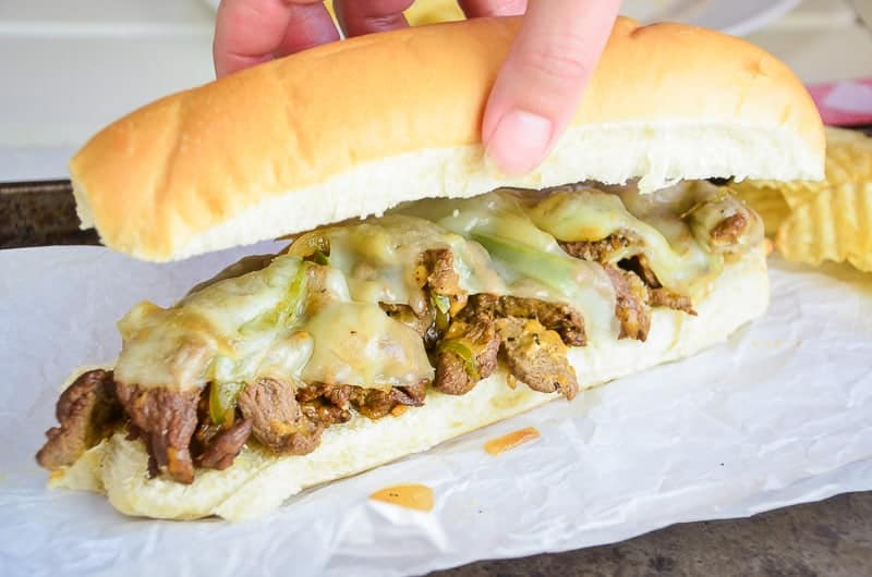 Insanely Delicious (and Quick!) Cheesesteak Sandwiches