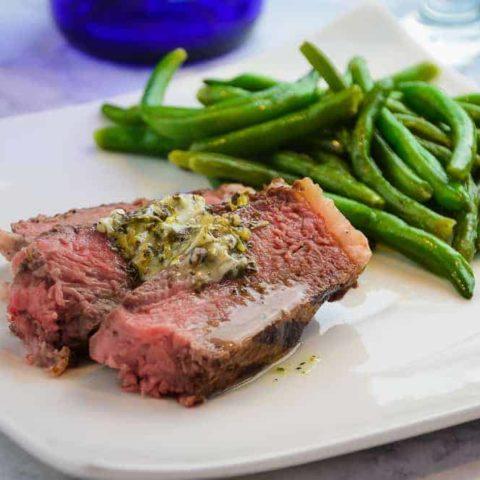 The Perfect Porterhouse Steak and Garlic Butter Sauce