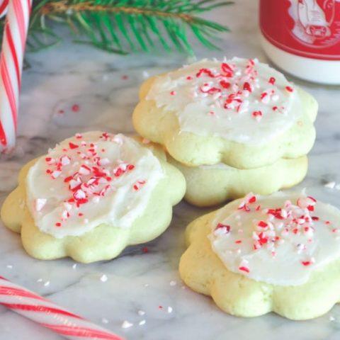 Peppermint Butter Cookies