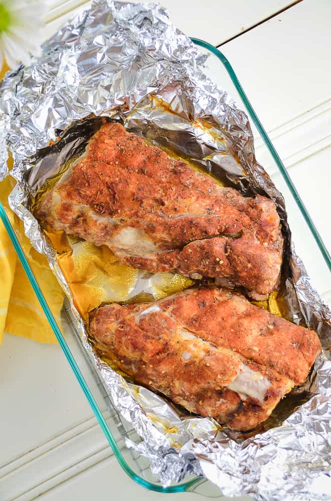 The Best Oven Baked Foil Wrapped Baby Back Ribs Home
