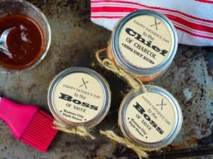 BBQ Sauce and Rub Recipe With Free Printable Gift Tags for Father's Day