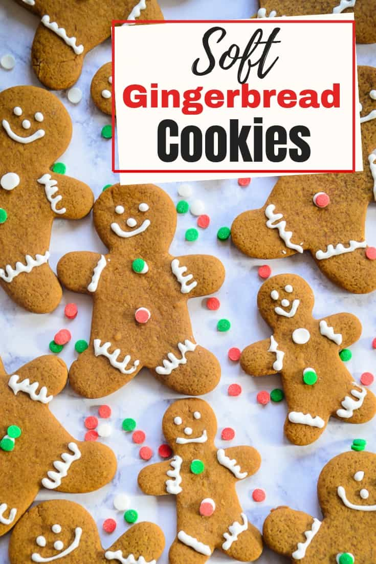 No holiday cookie tray is complete without a gingerbread man! These cut-out cookies are soft and chewy, with that classic gingerbread flavor.