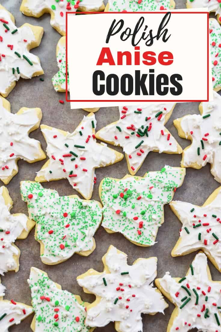 These tender Polish Pierniki Christmas Cookies are a holiday favorite. The licorice-flavored cookies capture the holiday spirit with a generous topping of festive sprinkles.