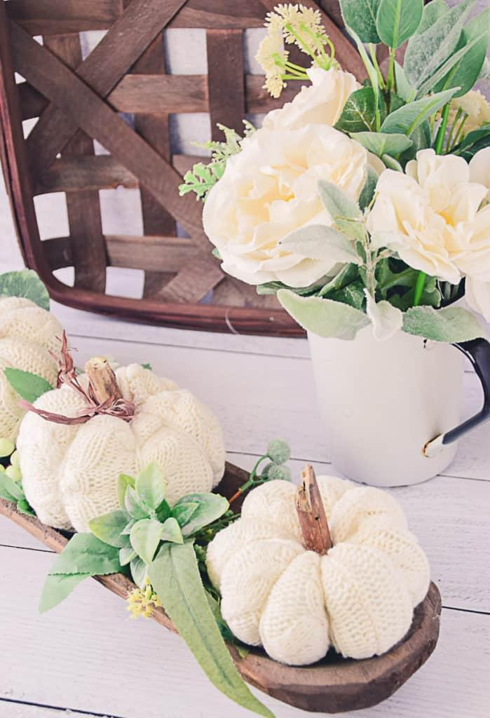 Fabric Sweater Sleeve Pumpkins