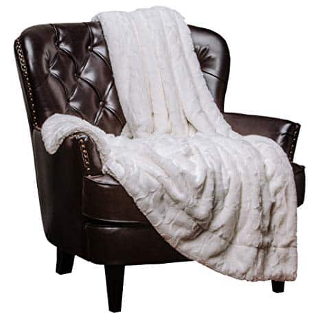 Chanasya Faux Fur Throw Blanket | Super Soft Light Weight Luxurious Hypoallergenic Blanket