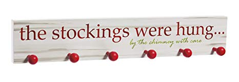 The Stockings were Hung Wooden Christmas Mantel Sign