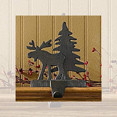 Moose and Tree Stocking Hanger