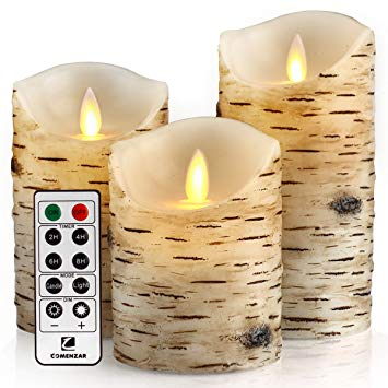 Flickering Candles, Candles Birch Set of 4