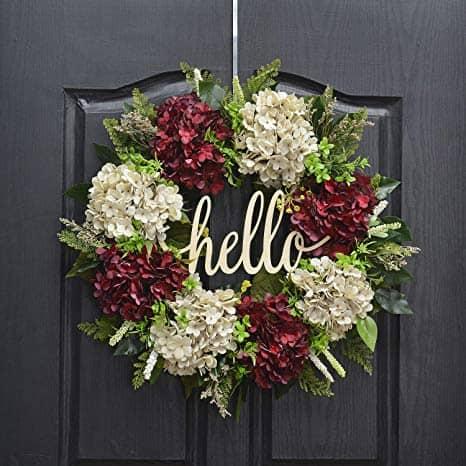 Handmade 18 inch Handmade Hydrangea Wreath