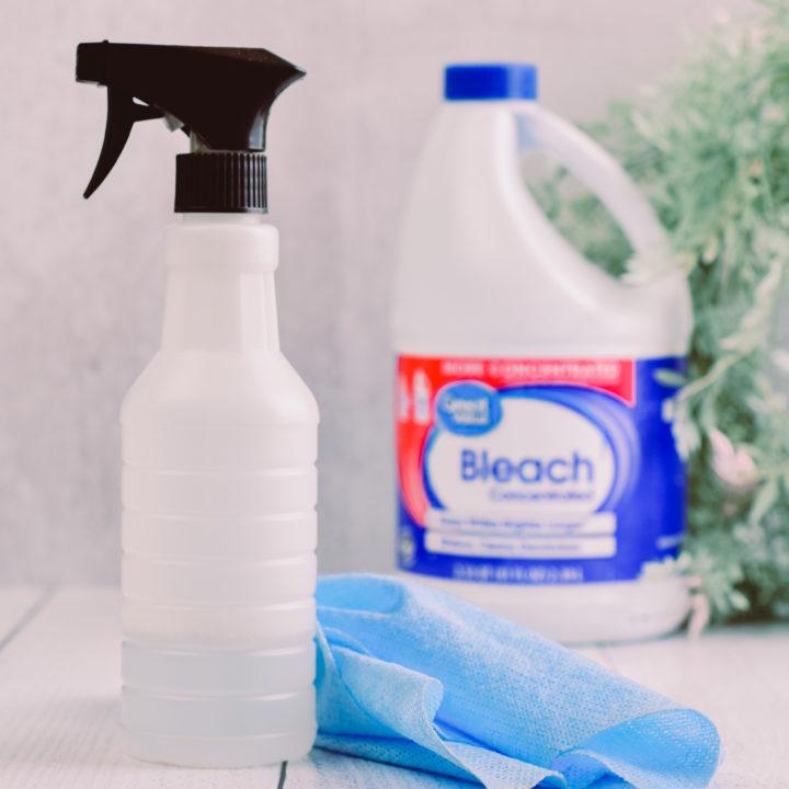 DIY Bleach Cleaning Spray